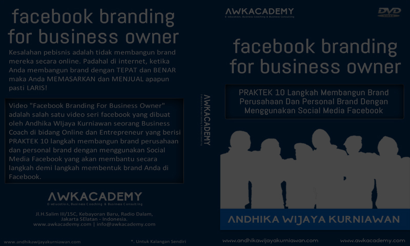 "Telah Hadir DVD Tutorial ""Facebook Branding For Business Owner"""