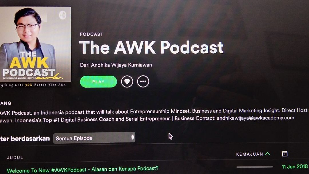AWK Notes: Welcome The AWK Podcast – Entrepreneur & Digital Lifestyle Podcast